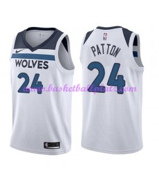 Minnesota Timberwolves Trikot Herren 2018-19 Karl Justin Patton 24# Association Edition Basketball T..